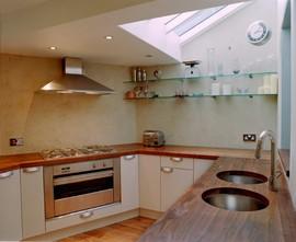 キッチン,天窓,クローズド,台所
